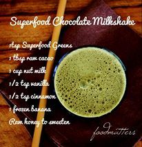 Who doesn't love a chocolate milkshake? Here's our healthy and nourishing version including Food Matters Superfood Greens!   What's your favorite way to have your Superfood Greens?