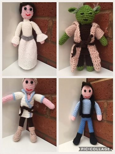 In a Galaxy far far away, I have been working up these super cool Star Wars Amigurumi. In this collection you will get 4 characters:-