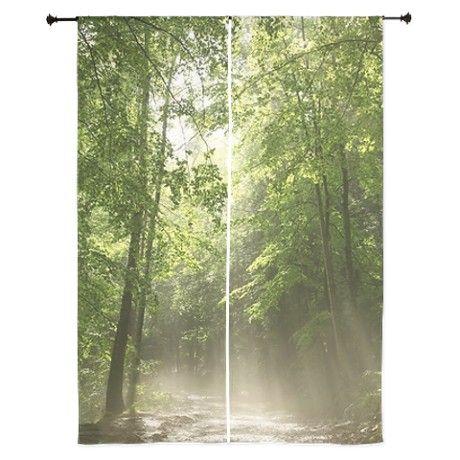Spring Forest Mist Curtains on CafePress.com