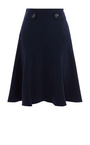 Karen Millen, Soft Military Skirt Navy