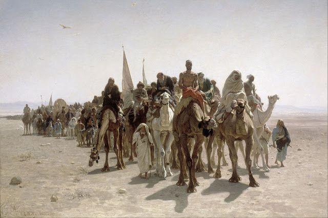 Προσκυνητές στο δρόμο για την  Μέκκα 1861