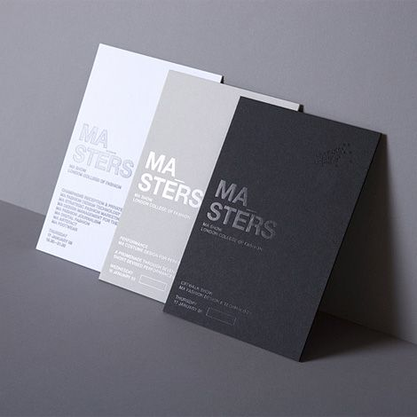 Graphic Design by Daniel Freytag. Beautiful single color graphic design using hot foil.Subtle and elegant.