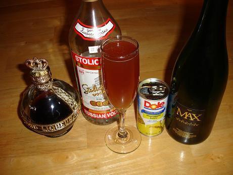 Flirtini Champagne Recipe - Champagne Cocktail Recipes