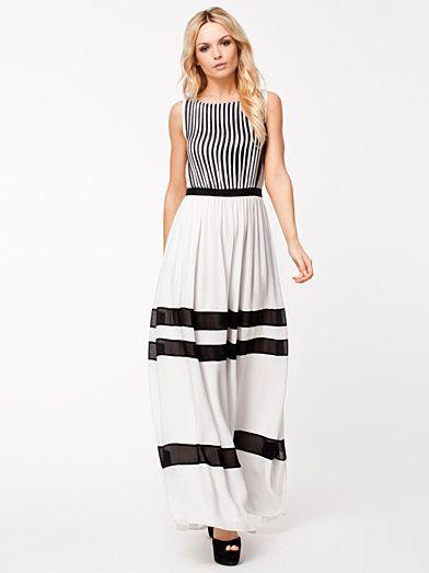 Pleated Dress - Alice & Olivia - Offwhite - Klänningar - Kläder - Kvinna - Nelly.com