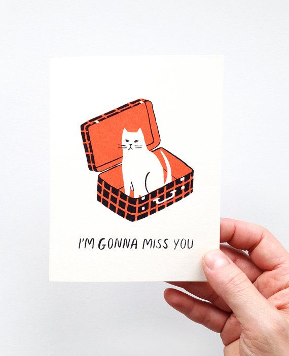 I'm Gonna Miss You Screen Printed Farewell Card