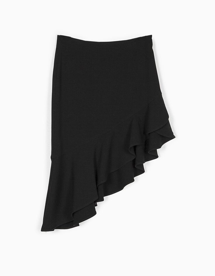 Asymmetrical skirt with frill detail - Clothing | Stradivarius Croatia