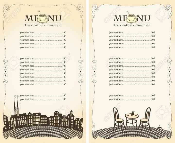 Blank Restaurant Menu Template Elegant 30 Blank Menu Templates Ai Psd Docs Pages Menu Design Template Menu Template Restaurant Menu Template