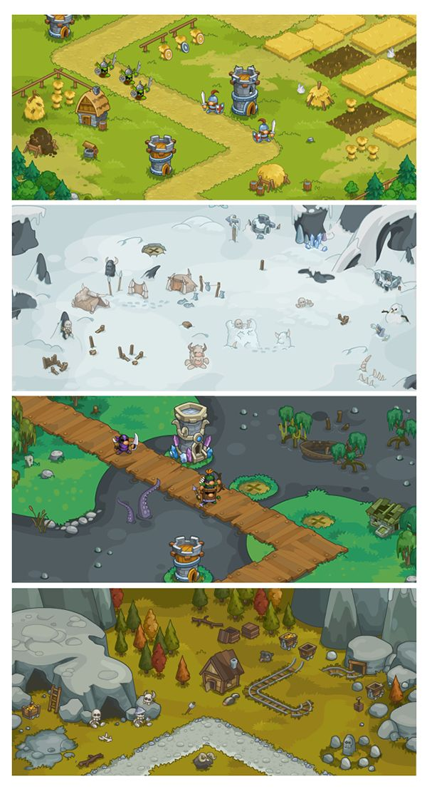 assets and background to tower defence game