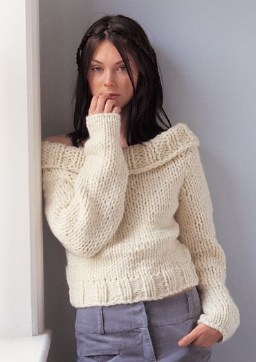 160 best free womens sweaters knitting patterns images on pinterest chunky off the shoulder sweater free knitting pattern dt1010fo