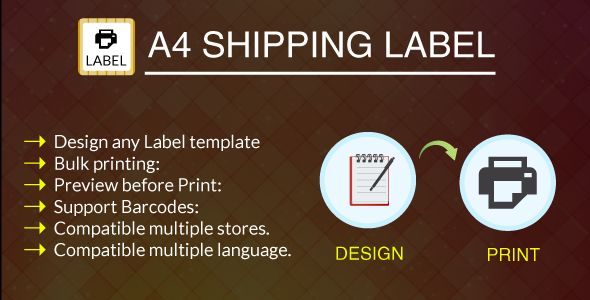 cool Download A4 Print Shipping Label Module Free Prestashop - shipping slip template