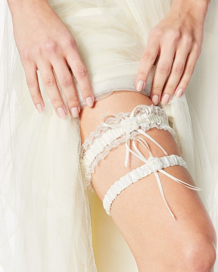 Charming charlie Satin Lace Garter Belt Set