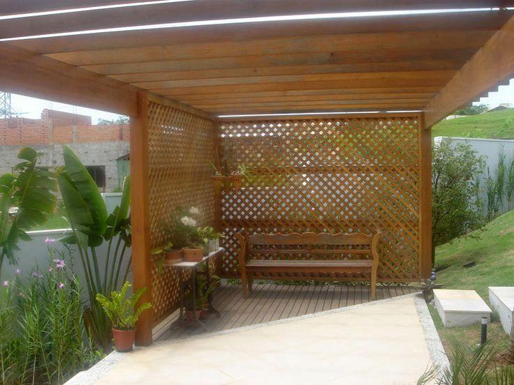 trelica jardim vertical:treliça de madeira para as orquídeas