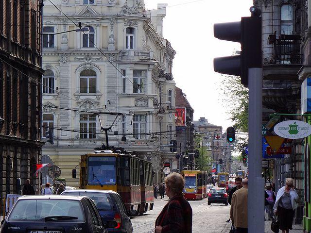 Zielona Street, Łódź, Poland