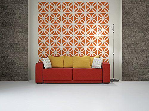 Mid Century Modern Bricks, Brick Wall Decals, Mid Century Modern Wall Art,  Retro Part 55