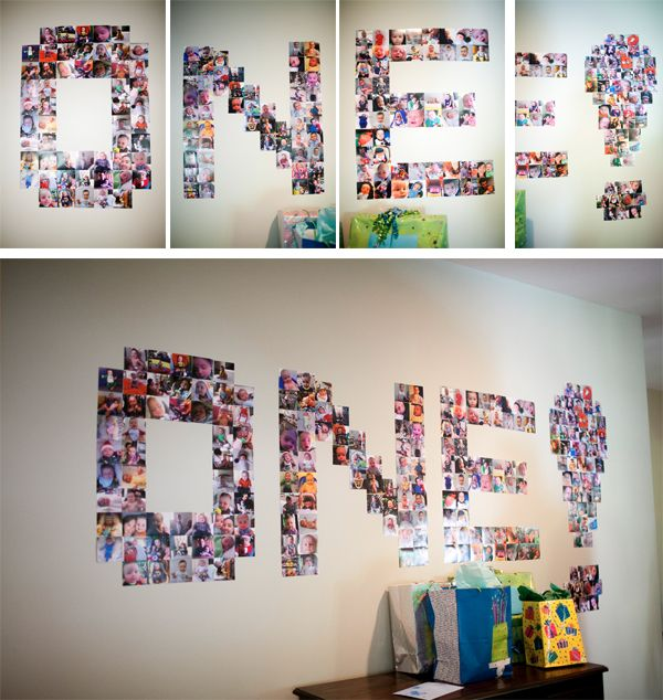 Print all the pics on your iphone to use as party decor-smart!