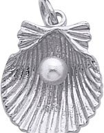 Please note that product images are enlarged to show detail. The actual item is 0.583 – (approx. 5/8 in.) inches long and 0.551 – (approx. 1/2 in.) inches wide. The Shell Charm, 14K White ...