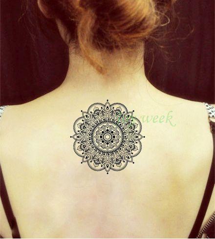 Waterproof Temporary Tattoo Sticker flower lotus mandala mehndi tattoo Water Transfer fake tattoo flash tattoo for girl women