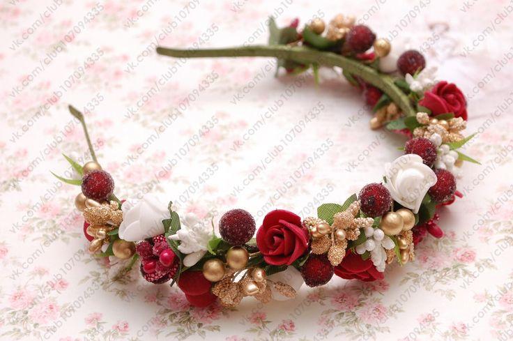 Ободки с цветами для волос ♥ Свадебные украшения   ВКонтакте