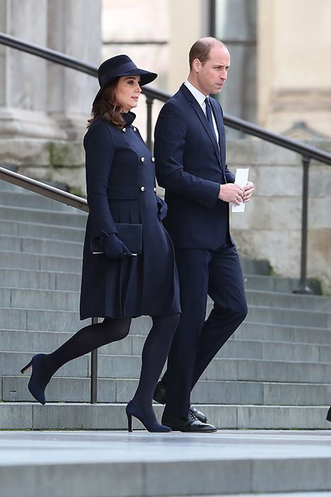 Prince William, Kate and Prince Harry paid their respects as they attended a memorial service on Thursday for those who died in the Grenfell Tower fire.