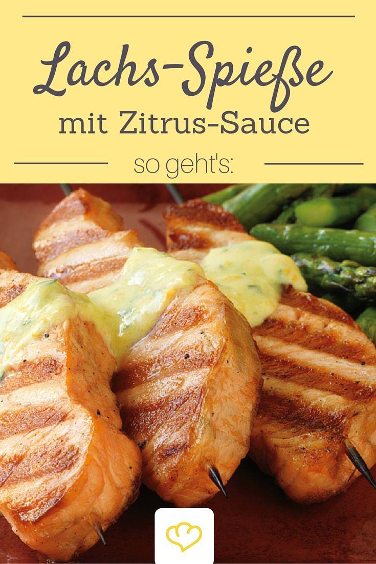 Passt perfekt zu Lachsspießen vom Grill: cremige Zitrussauce!