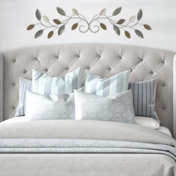 Stratton Home Decor Graceful Over The Door Metal Wall S07760 Depot Bedroom Above Bed Master