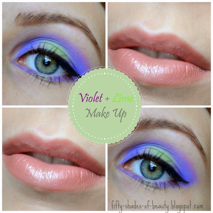 Violet & Lime Make Up | http://fifty-shades-of-beauty.blogspot.com/2014/06/makijaz-z-fioletem-i-limonka-violet.html