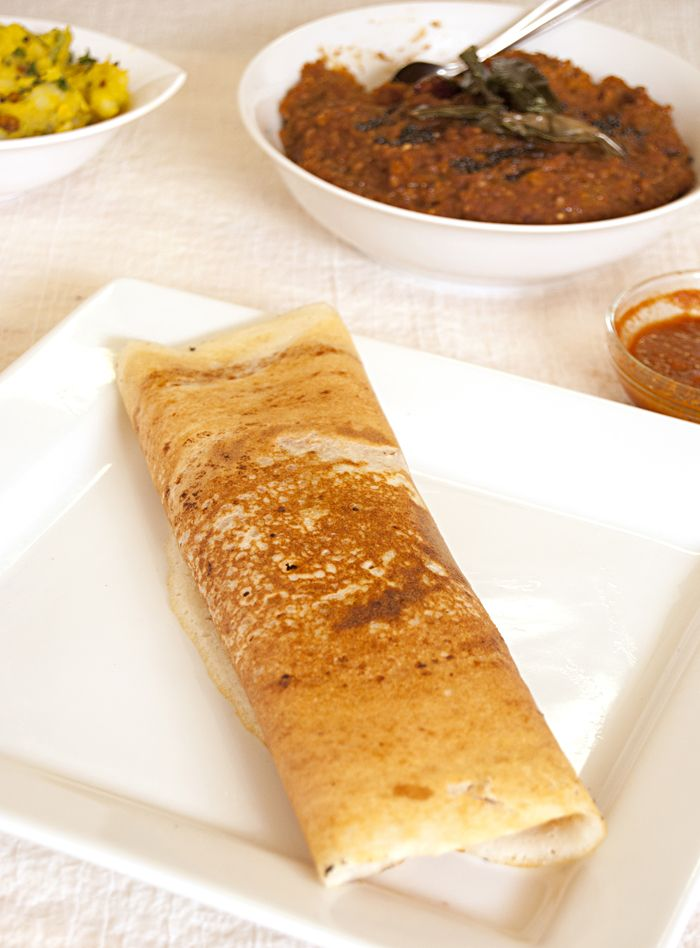 Masala Dosa [Ambika's Kitchen] // My favorite Indian dish--need to try to make it myself someday.