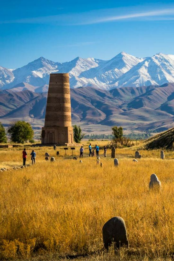 Don't miss Burana Tower, just outside of Bishkek, Kyrgyzstan. So much history and so. fascinating. #centralasia #krygyzstan #silkroad