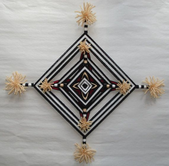 Tewa Clown  Ojo de Dios  Yarn Mandala by HighDesertBohemian, $38.00