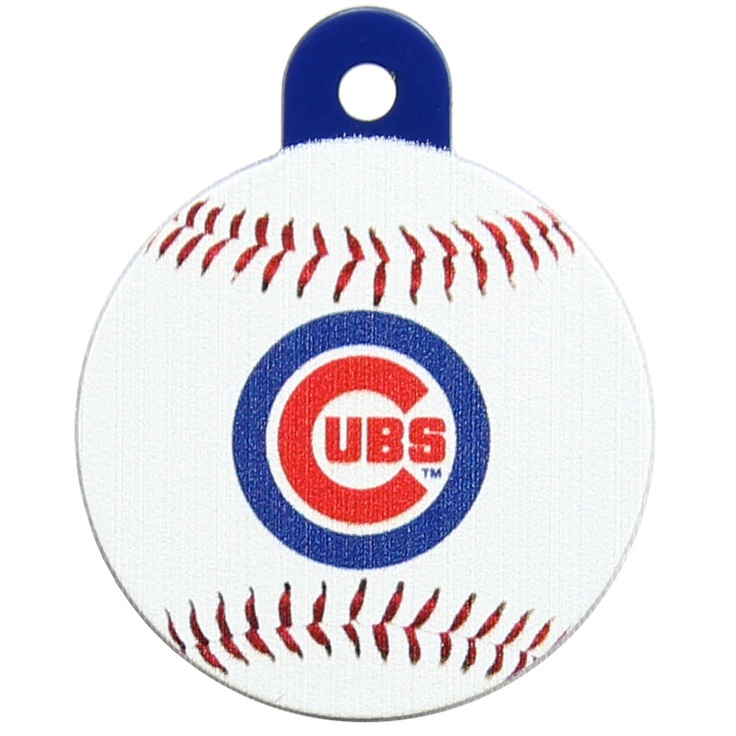 Chicago Cubs Round Baseball Dog ID Tag Pet id tags