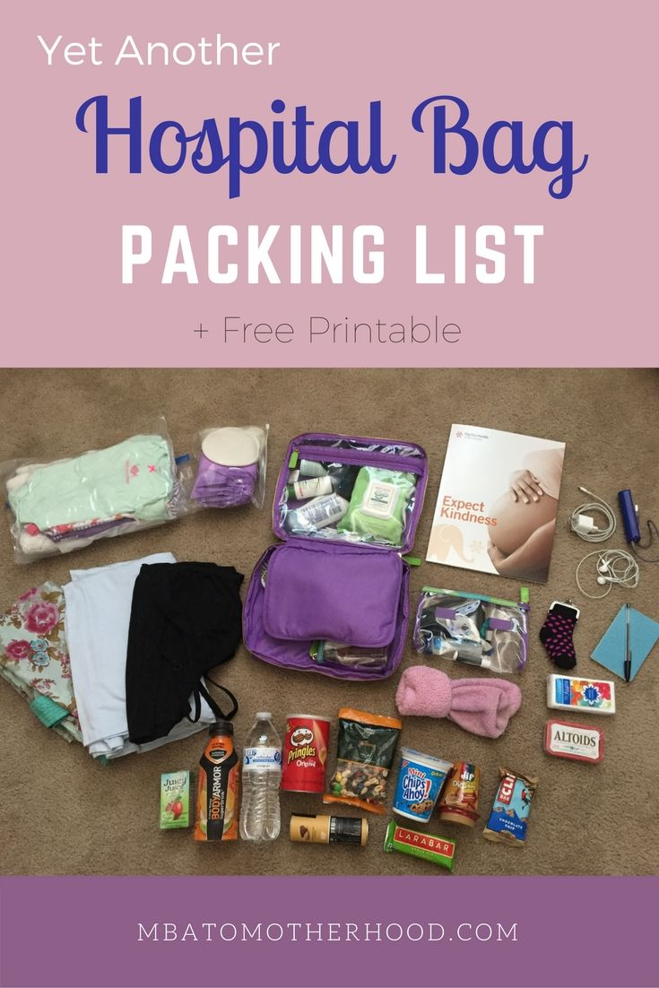 Yet Another Hospital Bag Packing List - MBA to Motherhood