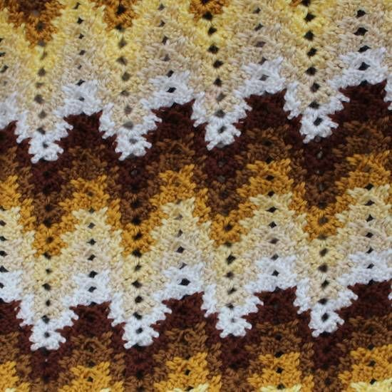 Grandma spiked my ripple blanket pattern. (Like the one in Return to Amish tv show) that so many have requested pattern for. Enjoy