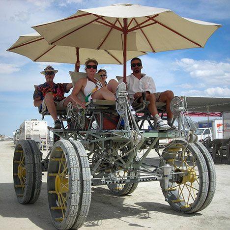 Burning Man Festival transport.