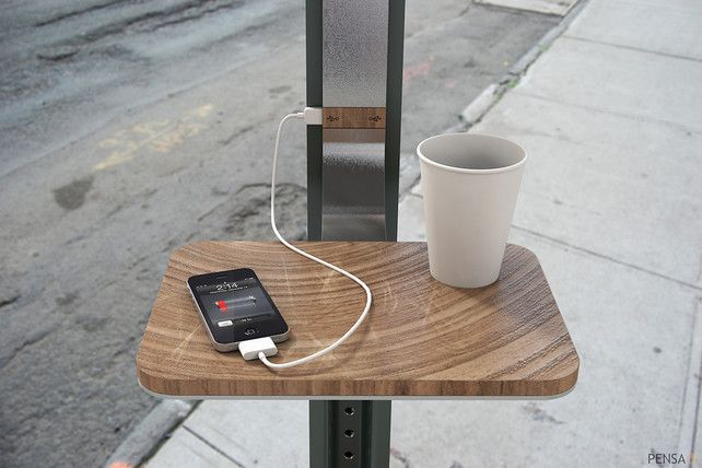 Street Signs That Charge Our Gadgets. Sign me up!! I wonder what city this is.#Repin By:Pinterest++ for iPad#Ideas, Gadgets, Solarpower, Street Signs, Solar Power, Street Charging, Products, Design, Charging Stations