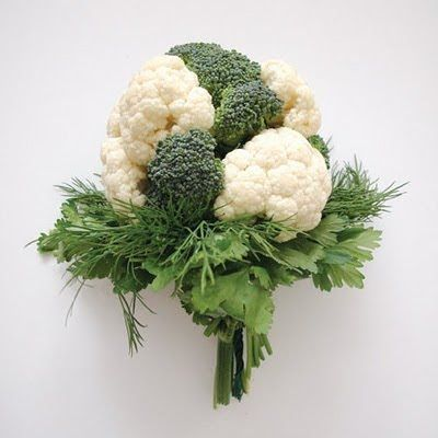 Broccoli And Cauliflower Bouquet Green Decorations