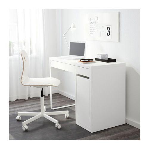 MICKE Skrivbord - vit - IKEA 699:-