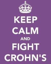 purple is the ribbon color for Crohn's awareness.