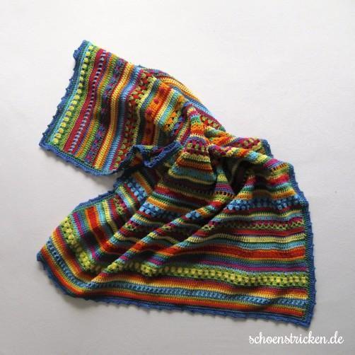Babydecke Regenbogendecke, gehäckelt inkl. genaue Anleitung