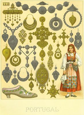 Old illustration with Viana do Castelo Portuguese craft