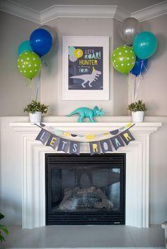 Party printables + decor from a Modern Dinosaur Birthday Party on Kara's Party Ideas | KarasPartyIdeas.com (20) #decoratingideasparty