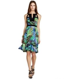 Bcbg Max Azria Dress, Sleeveless Printed Jersey A-line