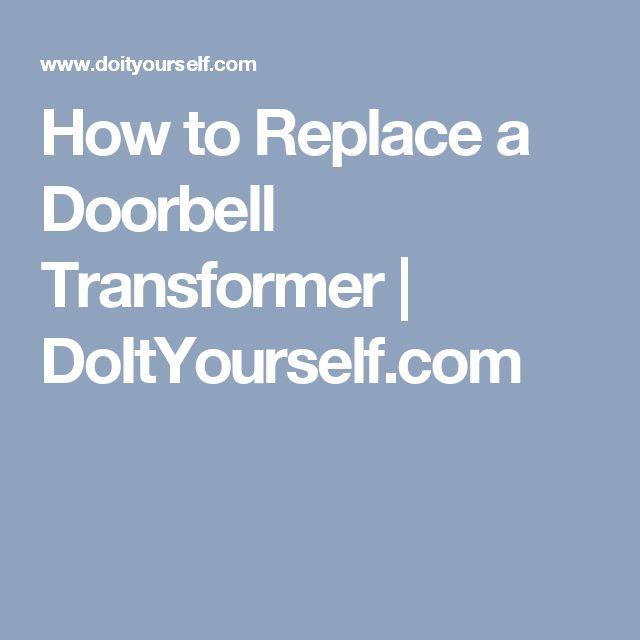 How to Replace a Doorbell Transformer | DoItYourself.com