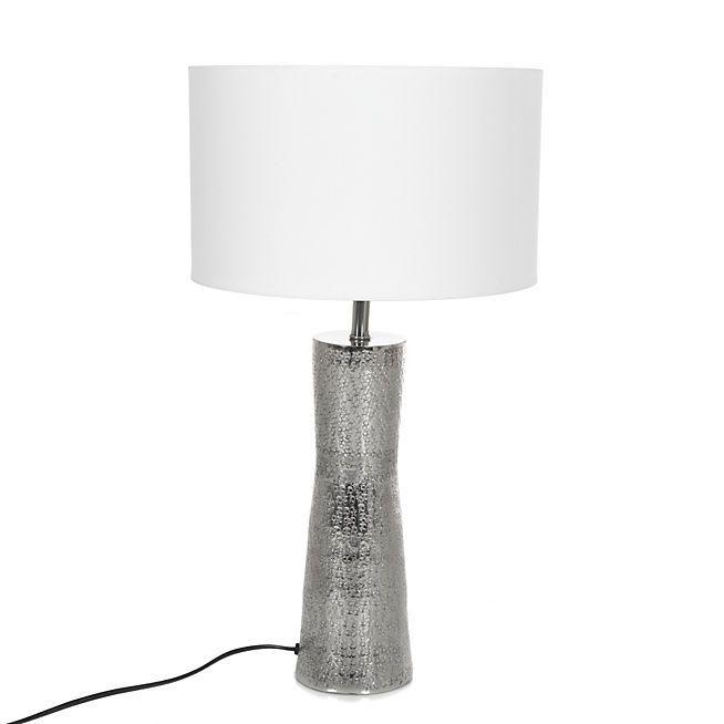 Alicia 2 Lum Lampe avec large pied en métal 30cm