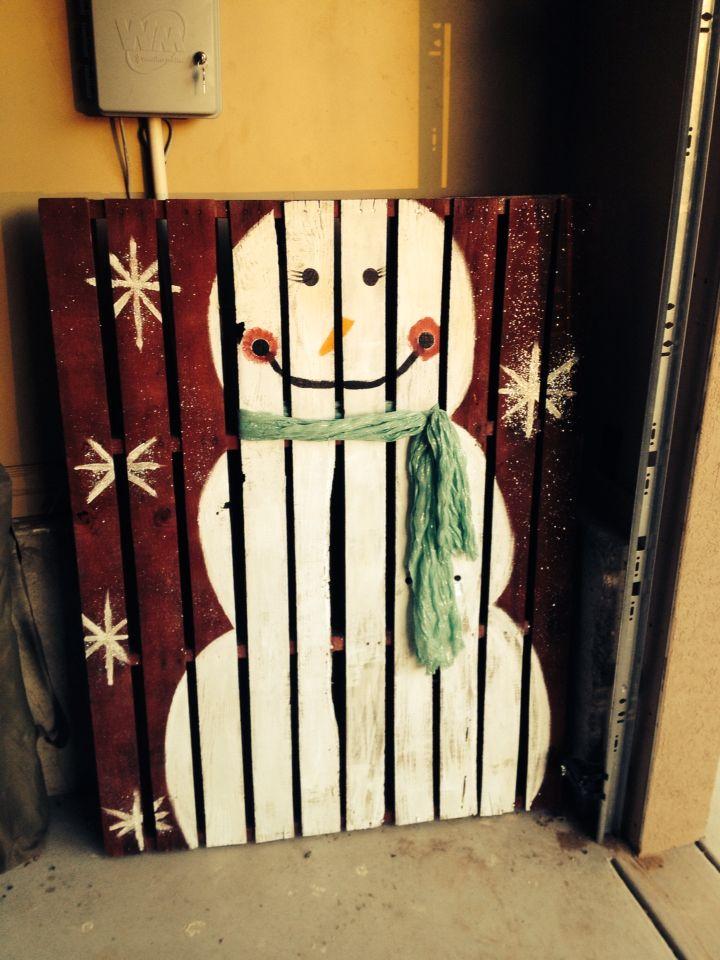 Snowman Pallet❄️⛄️❄️