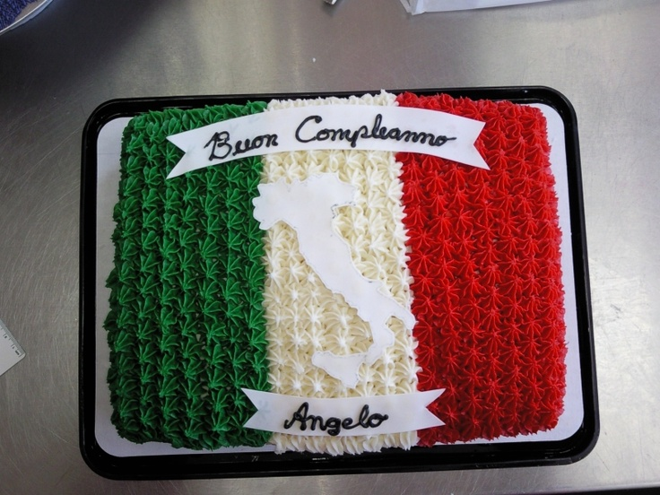 Itallian Flag Cake Things