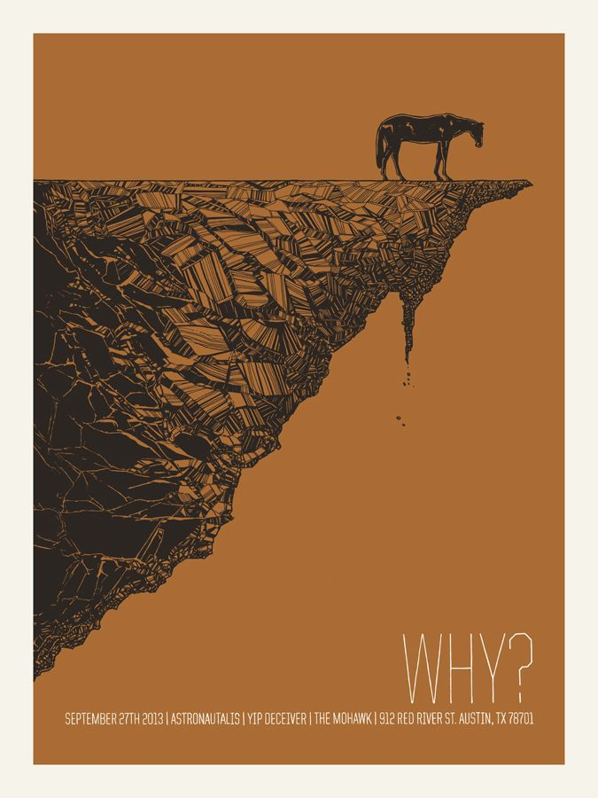 """""""WHY?"""" GigPoster by Bungaloo #screenprinting"""