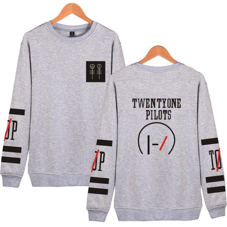 2017 harajuku Twenty One Pilots Hoodie Sweatshirt women Men tracksuit -clothing tumblr sweatshirt Black survetement femme
