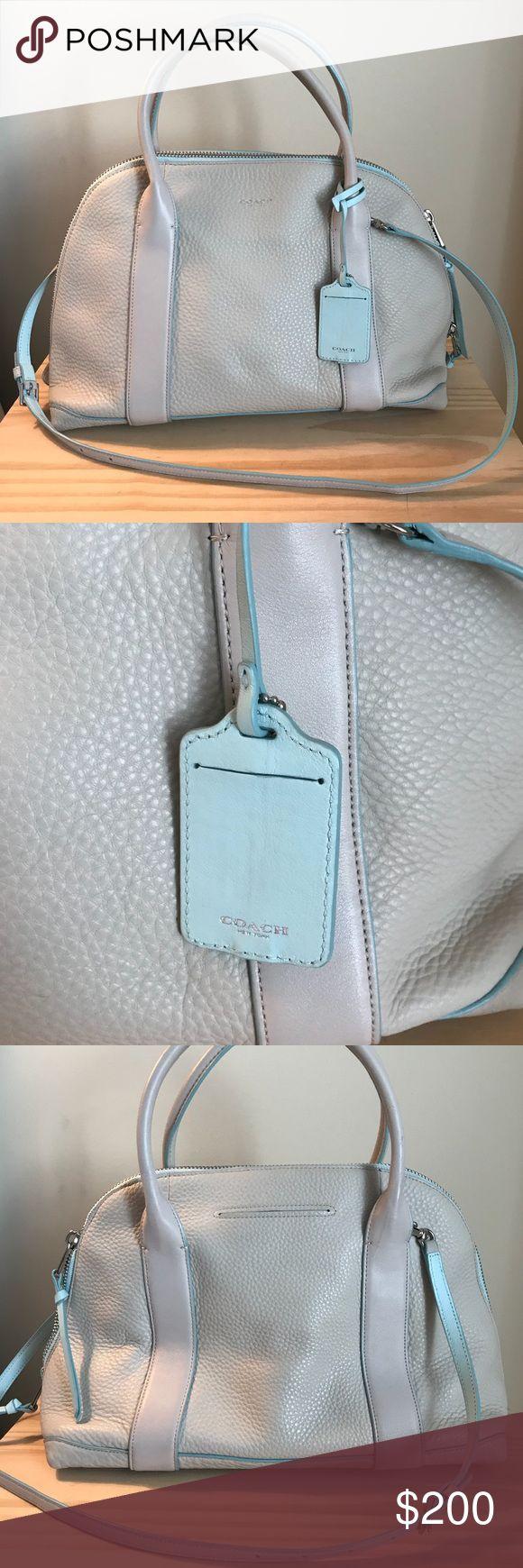 Distressed gray leather bag - everyday hobo shoulder