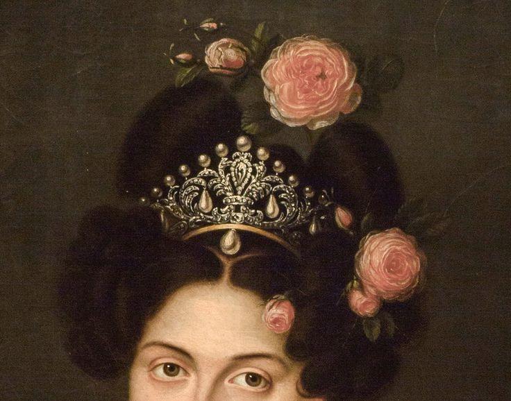 María Cristina de Borbón dos Sicilias Reina Regante de España by Luis de la Cruz y Rios: