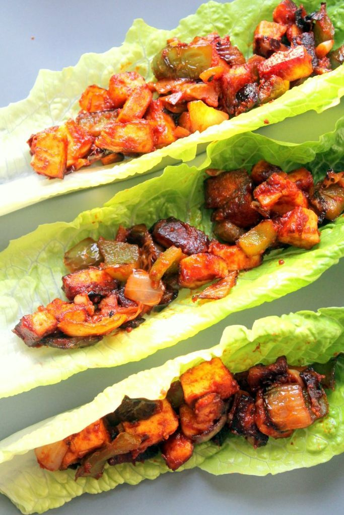 These chili paneer lettuce wraps are incredibly easy to put together and totally delicious. One of my all time favorites.
